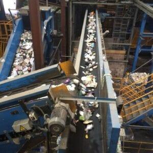 Baler feed Trommel discharge & Plastics Conveyor