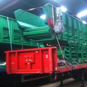 Belt on slat conveyor ready for dispatch